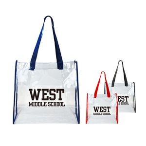 NFL Approved Clear Open Tote with Webbing Handles