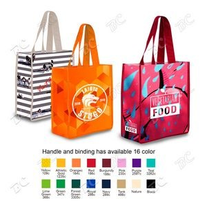 "360 Degree Full Color Cotton Tote Bag 13""x15""x10"""